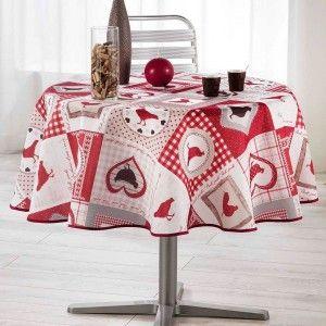 nappe rectangulaire essentiel l300 cm rouge nappe de table eminza. Black Bedroom Furniture Sets. Home Design Ideas