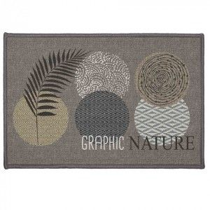 Tapis multi-usage (60 cm) Odaly Graphic Gris