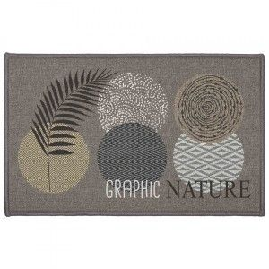 Alfombra multiusos  (80 cm) Odaly graphic Gris