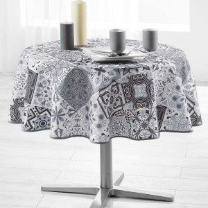 Nappe ronde (180 cm) Persane Grise
