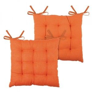 Coussin de chaise Jute Orange