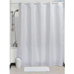 rideau de douche urban blanc accessoire douche baignoire. Black Bedroom Furniture Sets. Home Design Ideas
