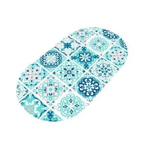 tapis fond de baignoire tils bleu - Tapis Baignoire