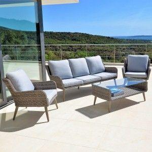 Emejing Salon De Jardin Gris Beige Pictures - Amazing House Design ...