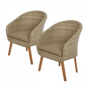 Lot de 2 fauteuils Geneva - Naturel