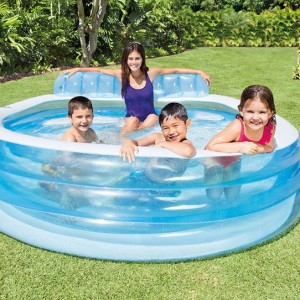 Piscina gonfiabile con panchina - Intex