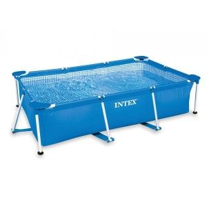 Piscina tubular rectangular Metal Frame Junior largo 2,20 m - Intex