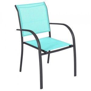Vert + Vert anis - Salon de jardin, table et chaise - Eminza