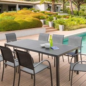 Table de jardin Aluminium Piazza (210 x 100 cm) - Gris anthracite