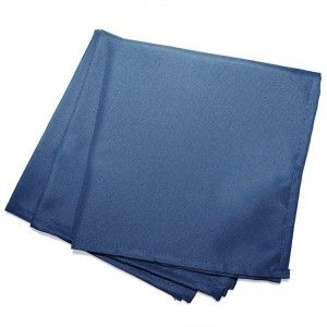 Lot de 3 serviettes Essentiel Bleu indigo