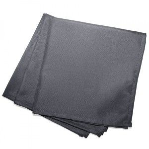Lot de 3 serviettes Essentiel Gris beton