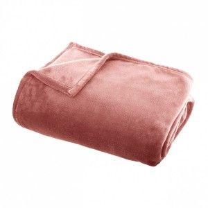 Plaid doux (180 cm) Tendresse flanel Rose blush