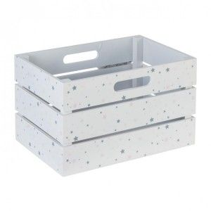 Caja de madera Betty Blanco y Rosa