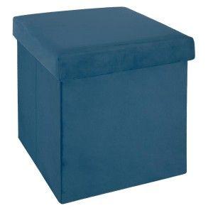 Pouf Pliant Tess Bleu