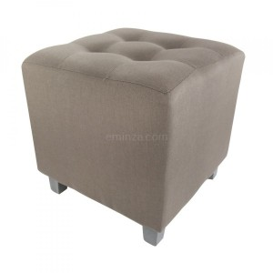 Hocker in Leinenoptik Leandre Taupe
