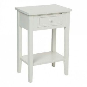 Table de chevet Charme Blanche