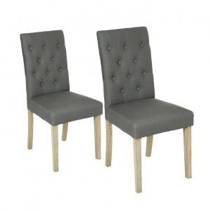 Lot de 2 chaises Canvas Cleva Grises