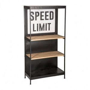 Scaffale Speed limit Nero