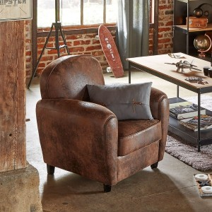 Club fauteuil Stanis Bruin