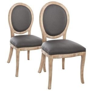Lot de 2 chaises Cleon Gris