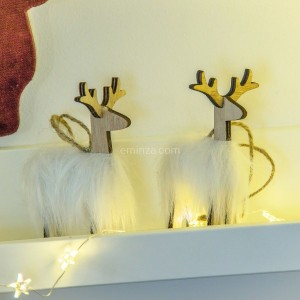 Lot de 2 Rennes Rudolph Naturel