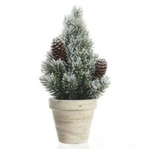 Sapin artificiel de table Sibérie  H40 cm Vert enneigé