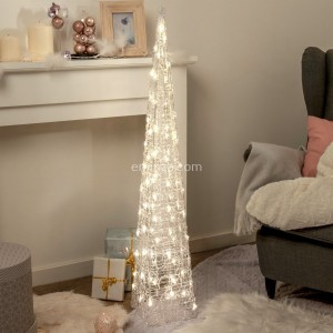 Piramide luminosa Khéops H118 cm Bianco caldo 80 LED