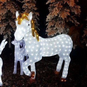 Unicornio luminoso Tornado Blanco frío 300 LED