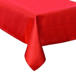 Nappe rectangulaire (L240 cm) Paillettée Rouge