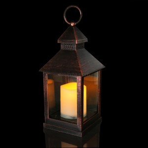 Lanterne led Bougiva Noir