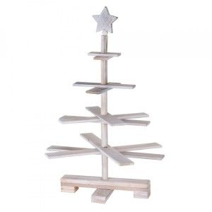 Sapin de table décoratif Christmas H55 cm Blanc