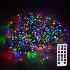 Guirlanda luminosa con mando a distancia 8 m Multicolor 400 LED