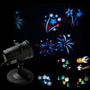 Proyector de luces Multi estampados Multicolor 4 LED