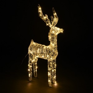 LED Rentier Rudolf Warmweiß 80 LEDs