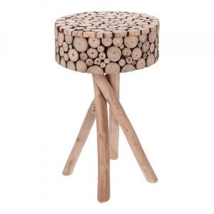 Table d'appoint Uno Marron naturel