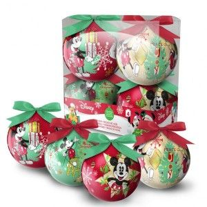 Set van 4 Disney kerstballen Mickey
