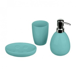 Kit accessori bagno Sun Turchese