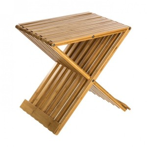 Lot de 2 tabourets Pliao Naturel