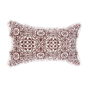 Coussin rectangulaire Arabesk Rouge
