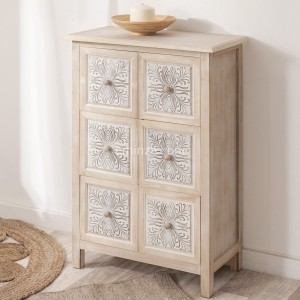 Commode 6 tiroirs Hina Naturel