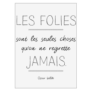 Sticker Wilde folies Noir