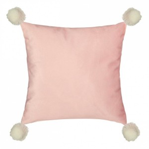 Coussin Pompon Rose