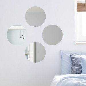Lot de 4 miroirs (30 cm) ronds Rotora