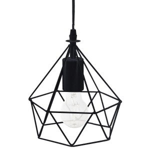 Suspension Diamant (22 cm) Noire