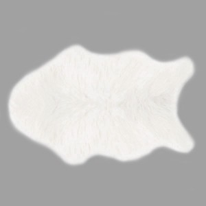Tapis imitation fourrure (90 cm) Fisher Blanc