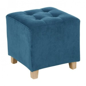 Hocker in Veloursoptik Leandre Blau