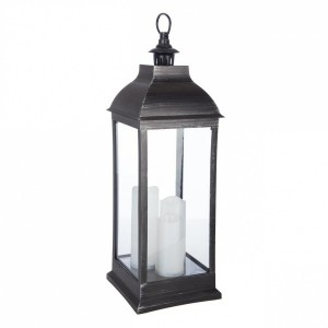 Lanterna LED Antique Nero