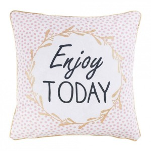 Housse de coussin (40 cm) Enjoy today Rose