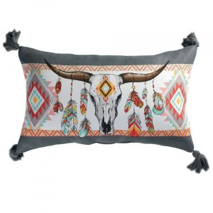 Coussin rectangulaire Indian Folk Multicolore