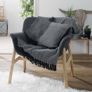 plaid et jet d co textile eminza. Black Bedroom Furniture Sets. Home Design Ideas